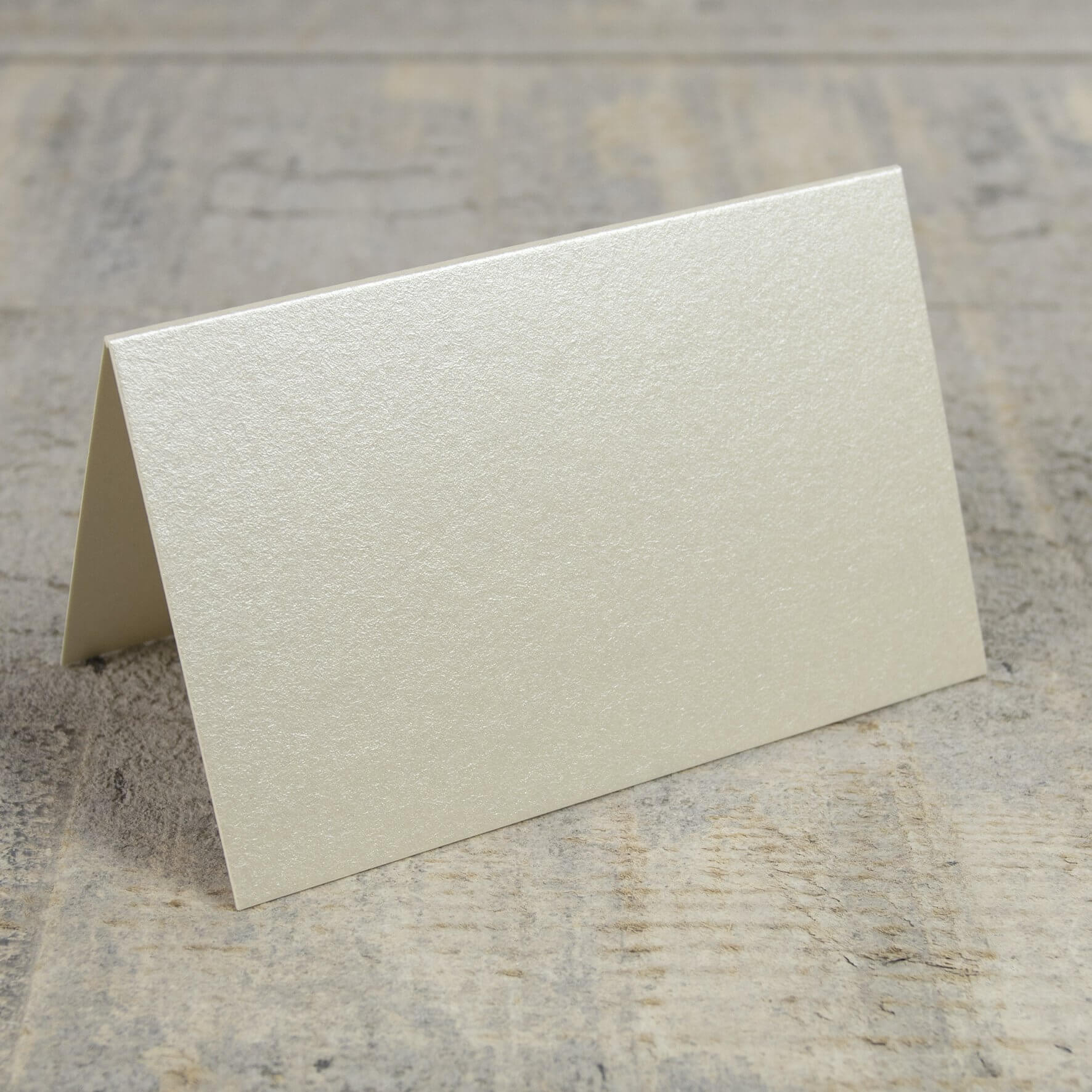 Creased Card Place Card - Vintage Ivory