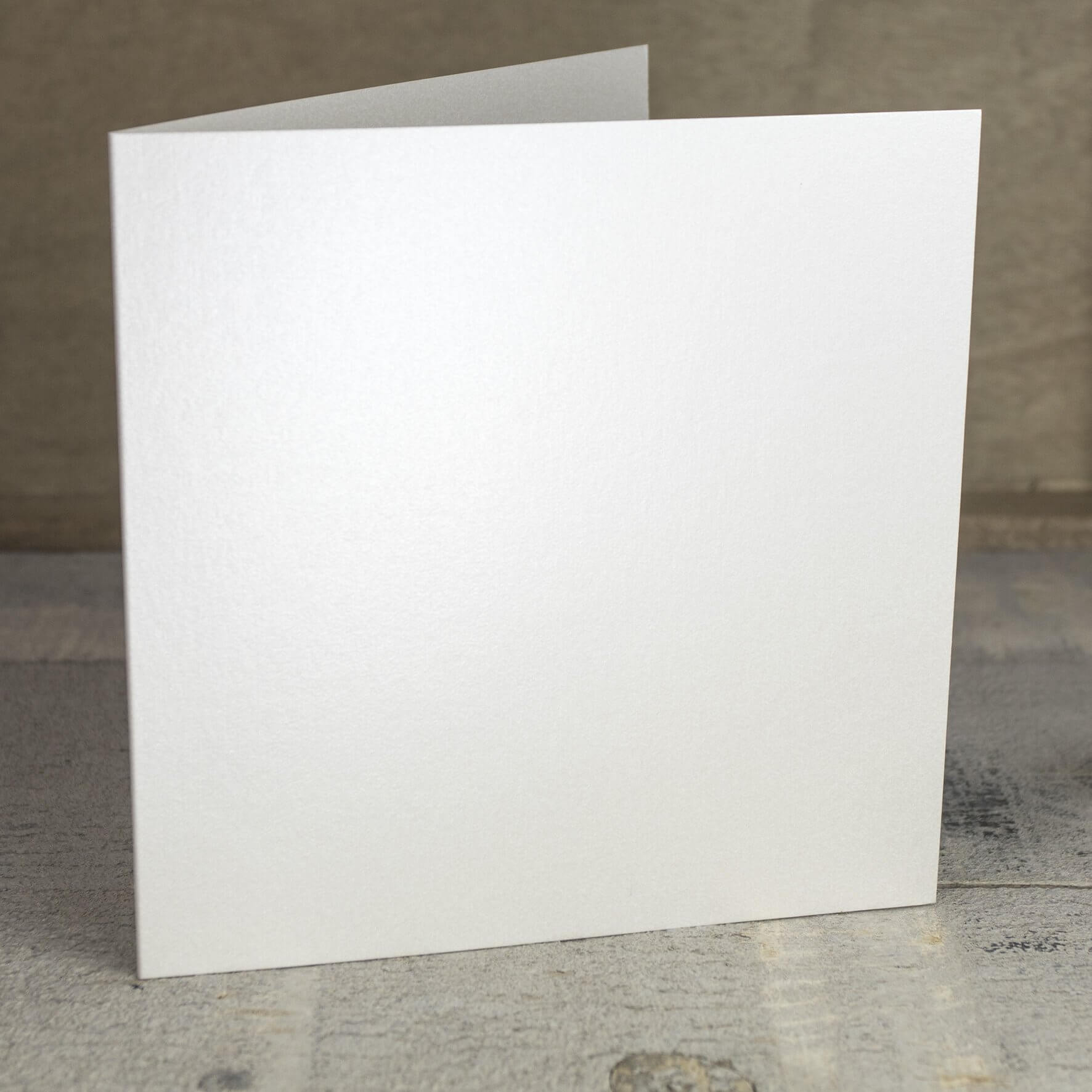 Creased Card Large Square - Soft Sheen Ivory