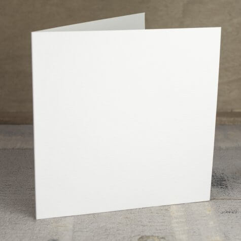 Creased Card Large Square - Antique Ivory