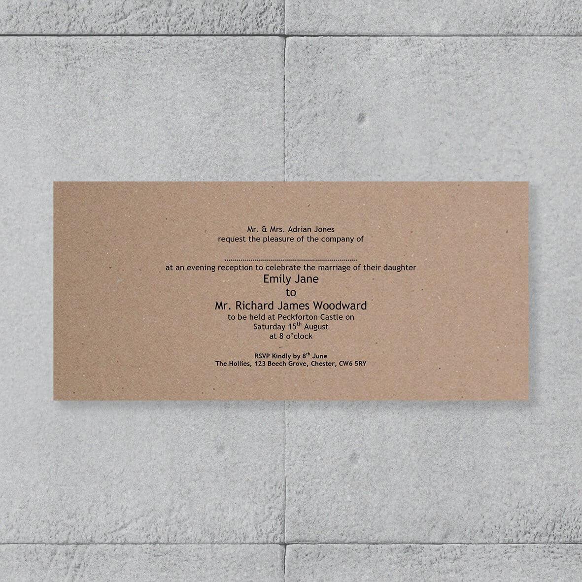 Enfolio Pocketfold (DL) - Cardmount and Cardstep 1 - Evening Invitation Template
