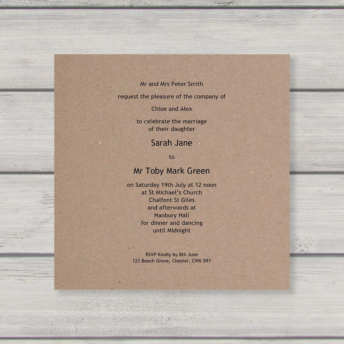 Enfolio Pocketfold (Lg Square) - Cardmount and Cardstep 1 - Wedding Invitation Template