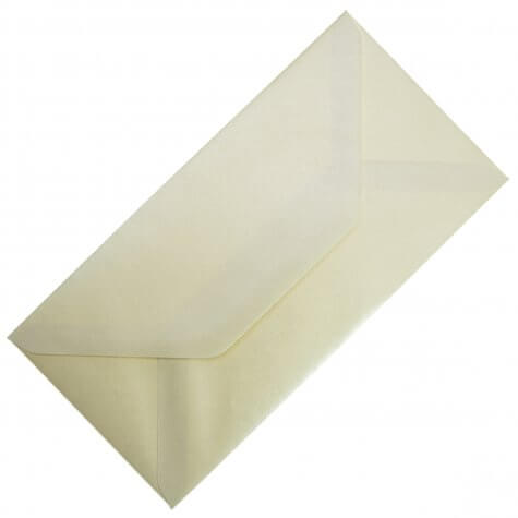 Vintage Ivory DL Envelope Large Tall