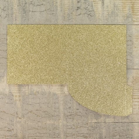 Enfolio Pocket Card - Gold Glitter Card
