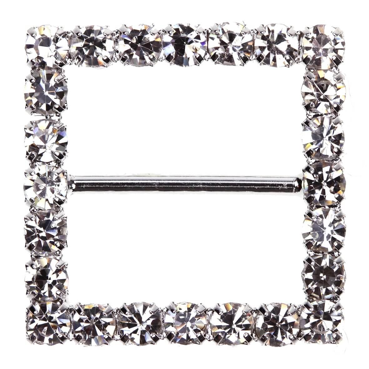 Square Diamante Buckle (Large)
