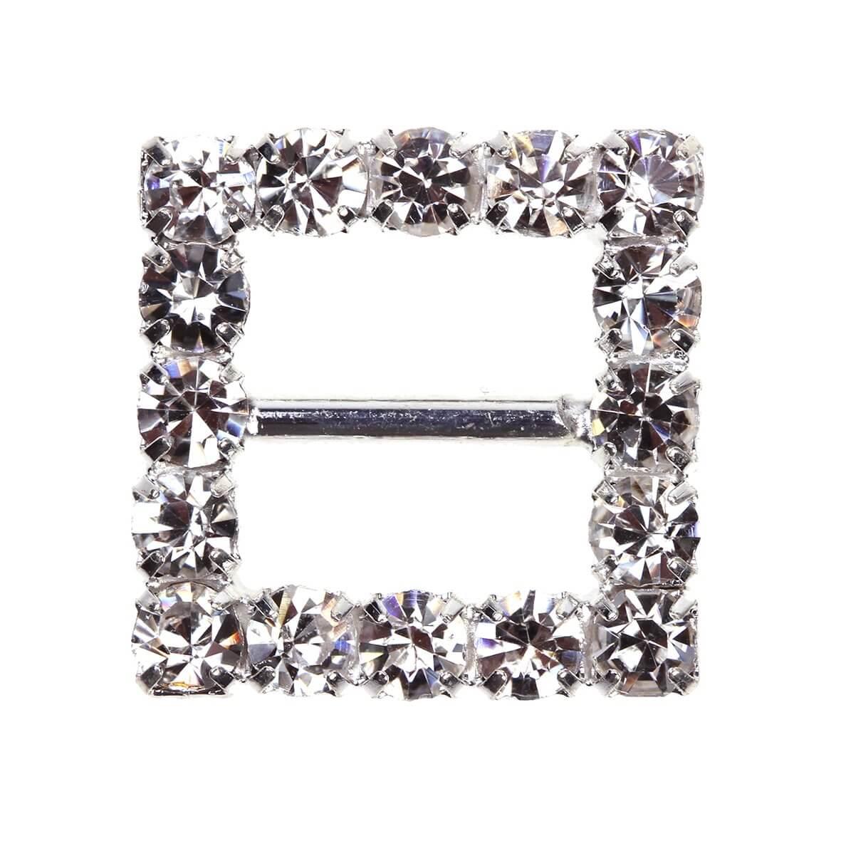 Square Diamante Buckle (Small)
