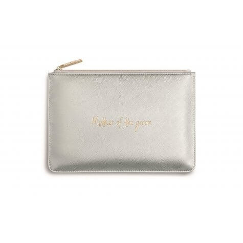 Katie Loxton - Perfect Pouch - Mother of the Groom - Metallic Silver