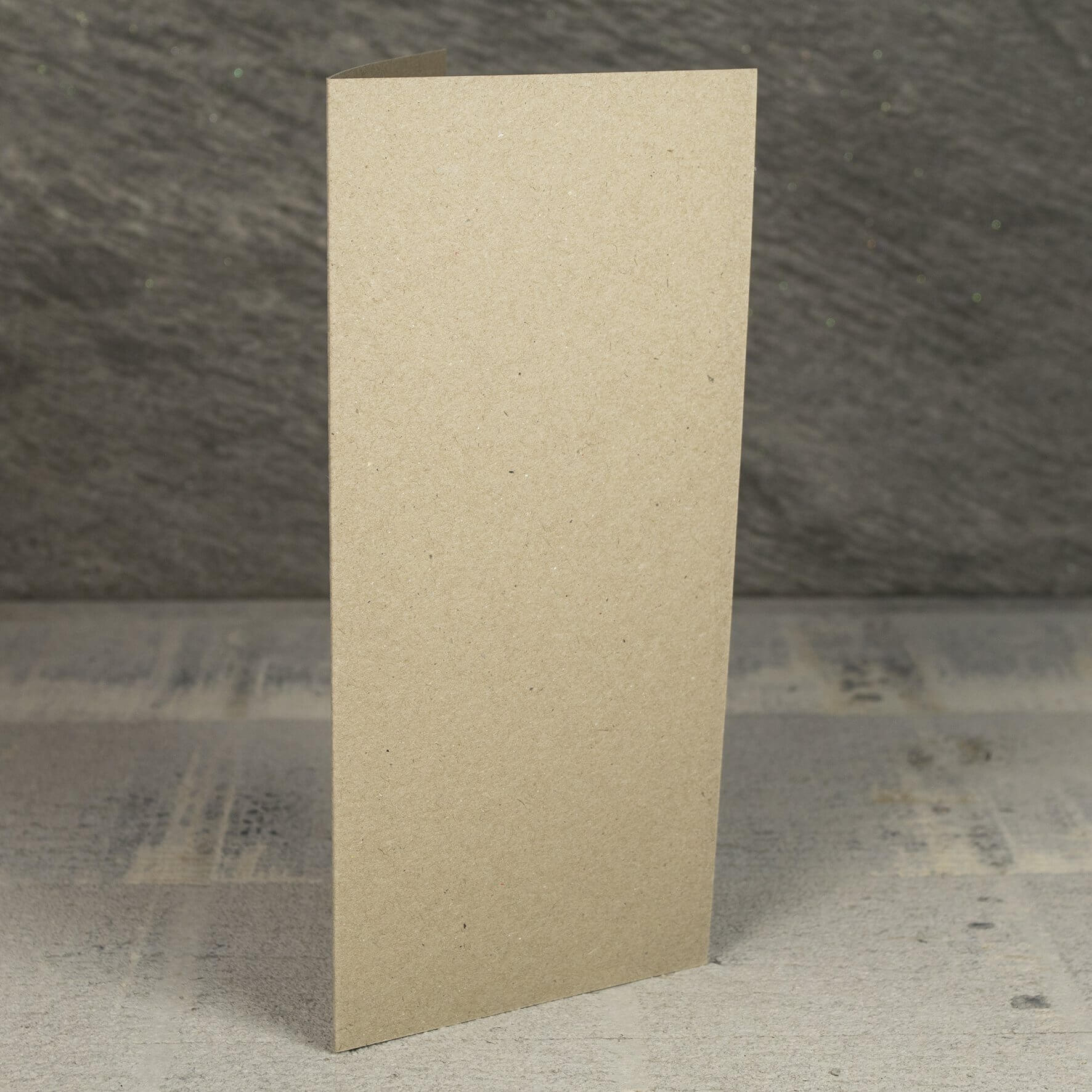 Creased Card Large Tall (DL) - Kraft