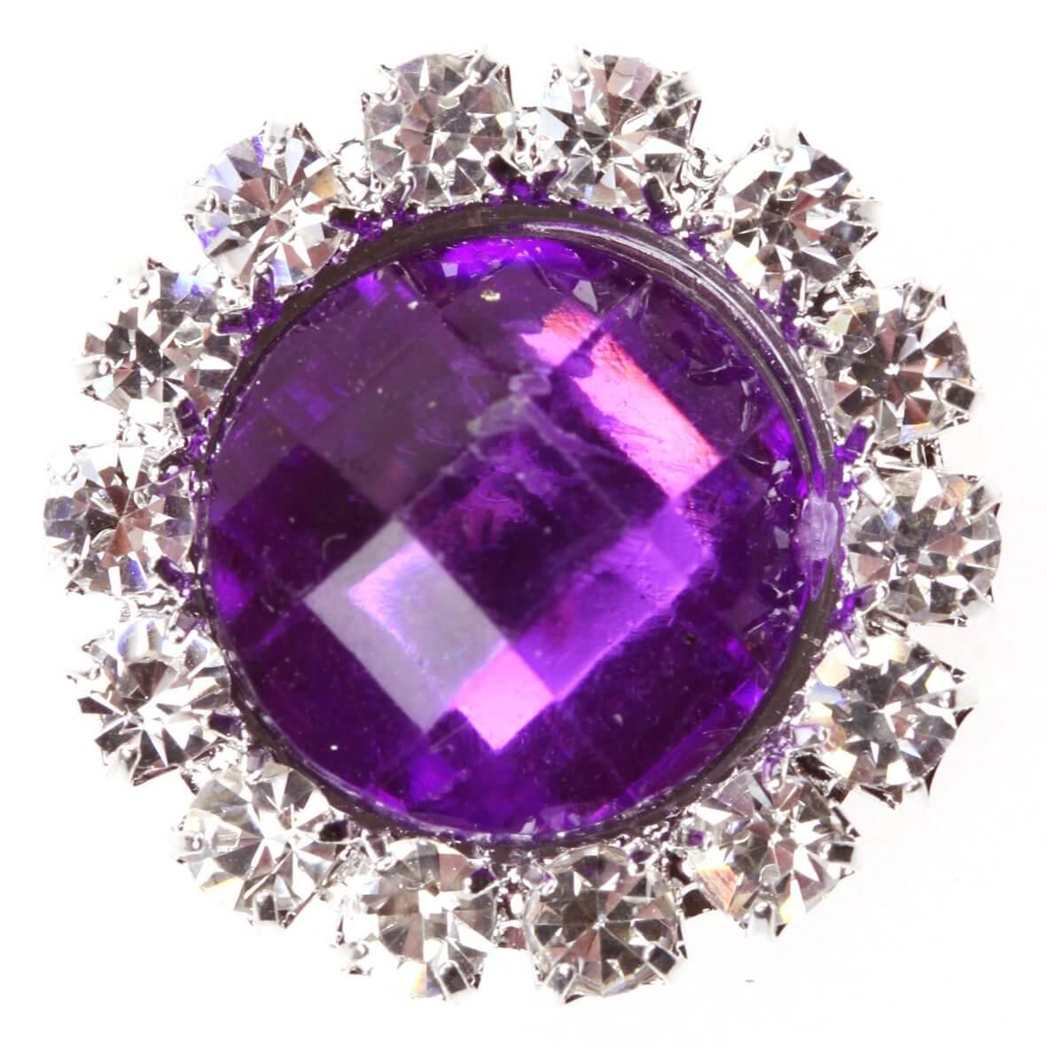 Diamante Gem Circle - Emperor Purple
