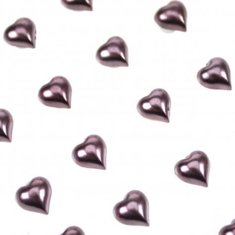 Burgundy Pearl Self Adhesive Hearts from Club Green