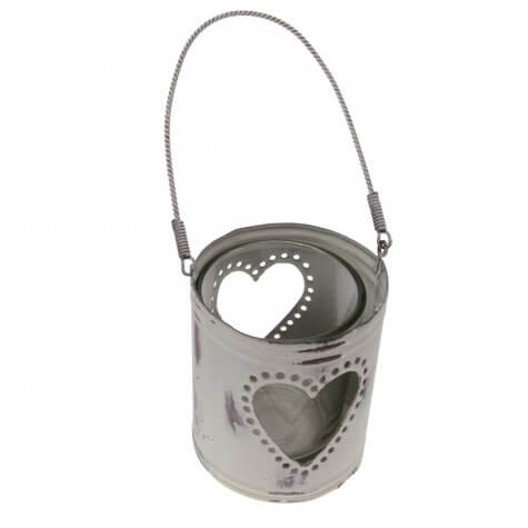 Hanging Heart Ivory Tea Light Holder