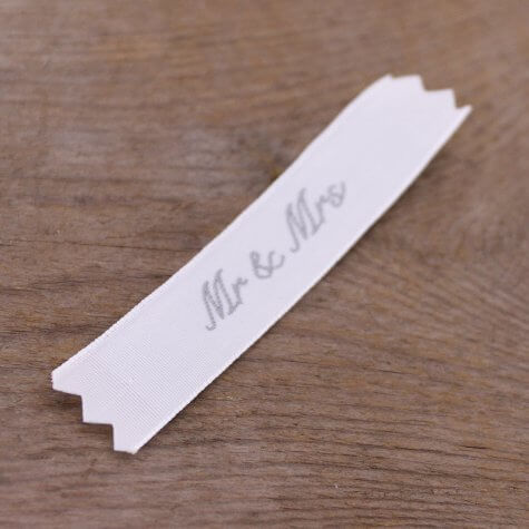'Mr & Mrs' Fabric Label