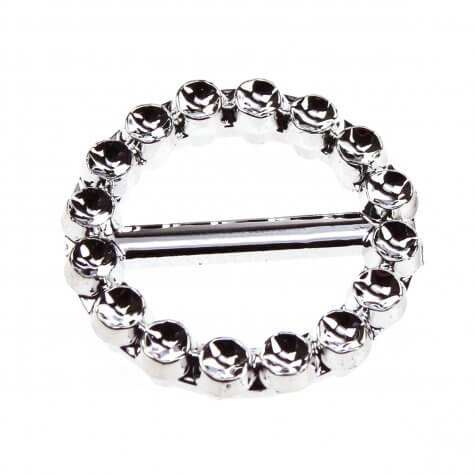 Circle Faux Diamante Buckle (24mm)