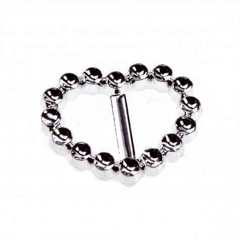 Heart Faux Diamante Buckle (25mm)