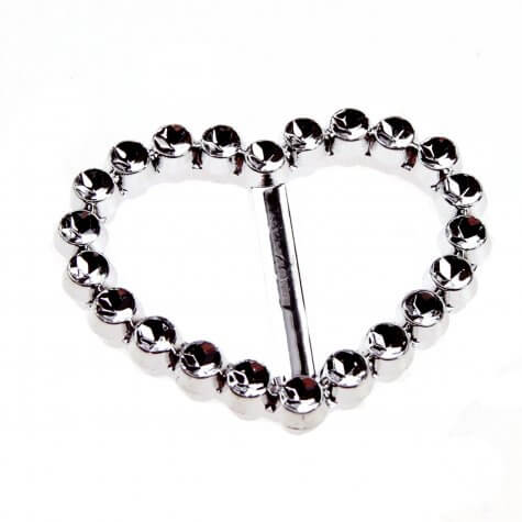 Heart Faux Diamante Buckle (35mm)