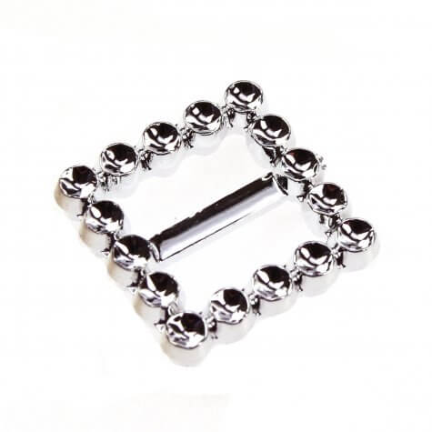 Square Faux Diamante Buckle (20mm)