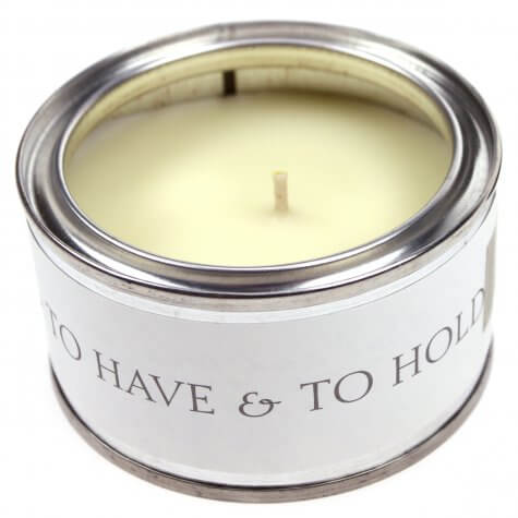 'To Have and To Hold' (Bold Text) Candle - Apple Blossom Fragrance