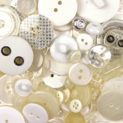 Random Ivory Mix Buttons 100gms