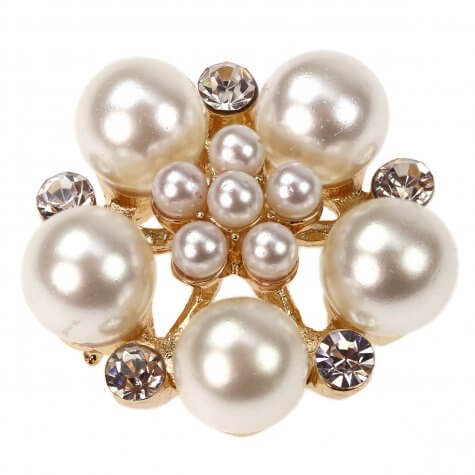 Gold Roseto Diamante and Pearl Embellisment
