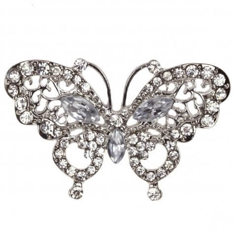 La Scala Butterfly Diamante Embellishment