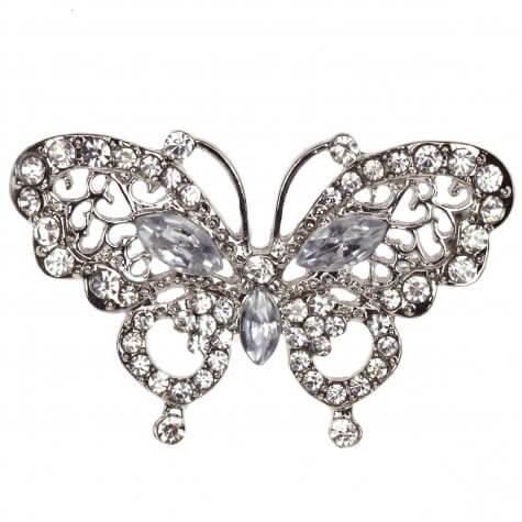 La Scala Butterfly Diamante Embellishment