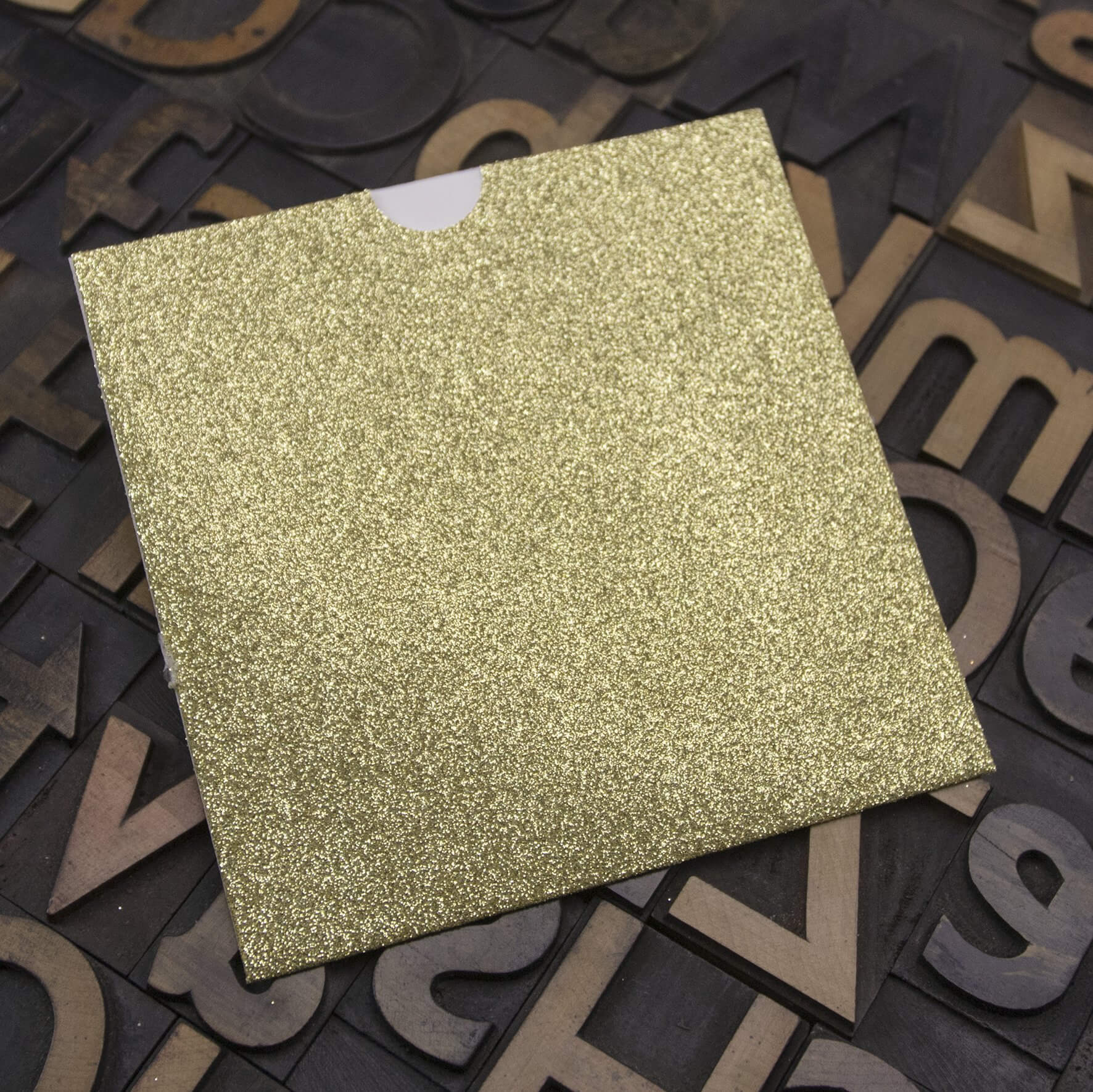 Enfolio Wallet 125mm Sq - Gold Glitter Card