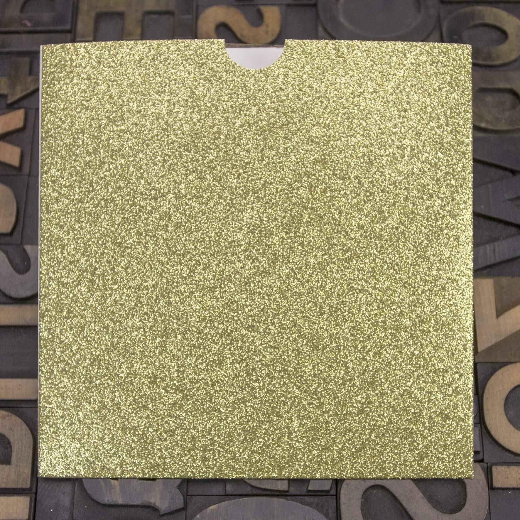 Enfolio Wallet 146mm Sq - Gold Glitter Card