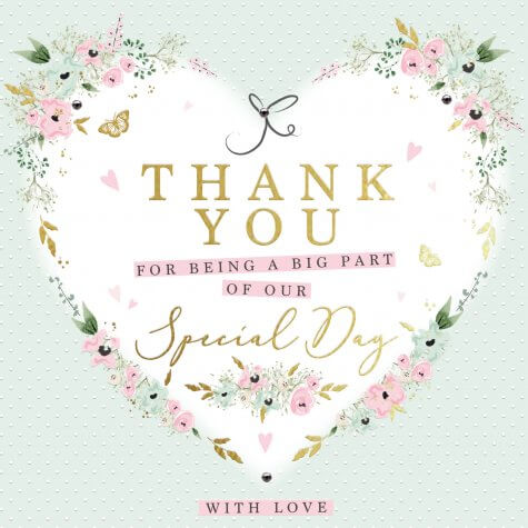 Thank you for being a big part of our special day card