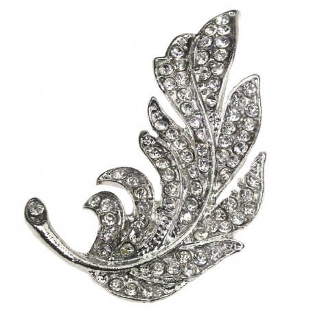 La Plume Falling Feather Diamante Embellishment