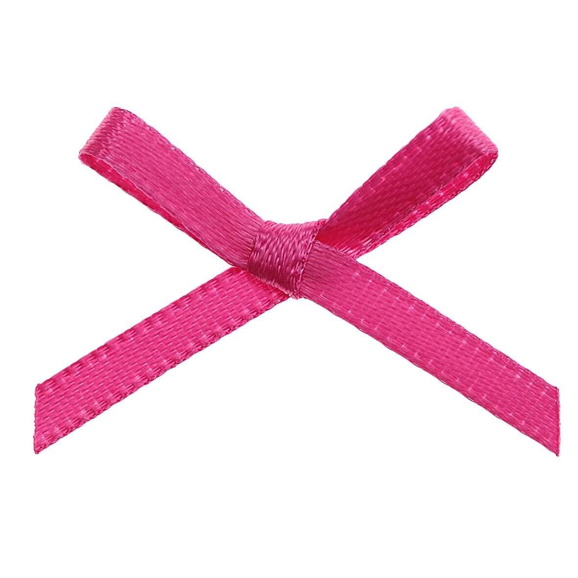Hot Pink Ribbon Bows 3mm