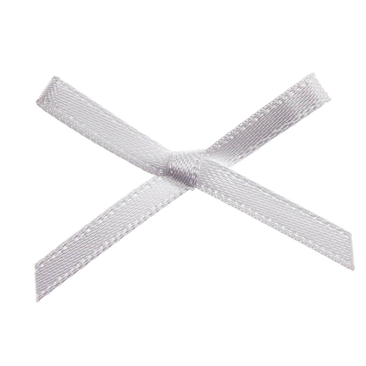 White Ribbon Bows 3mm
