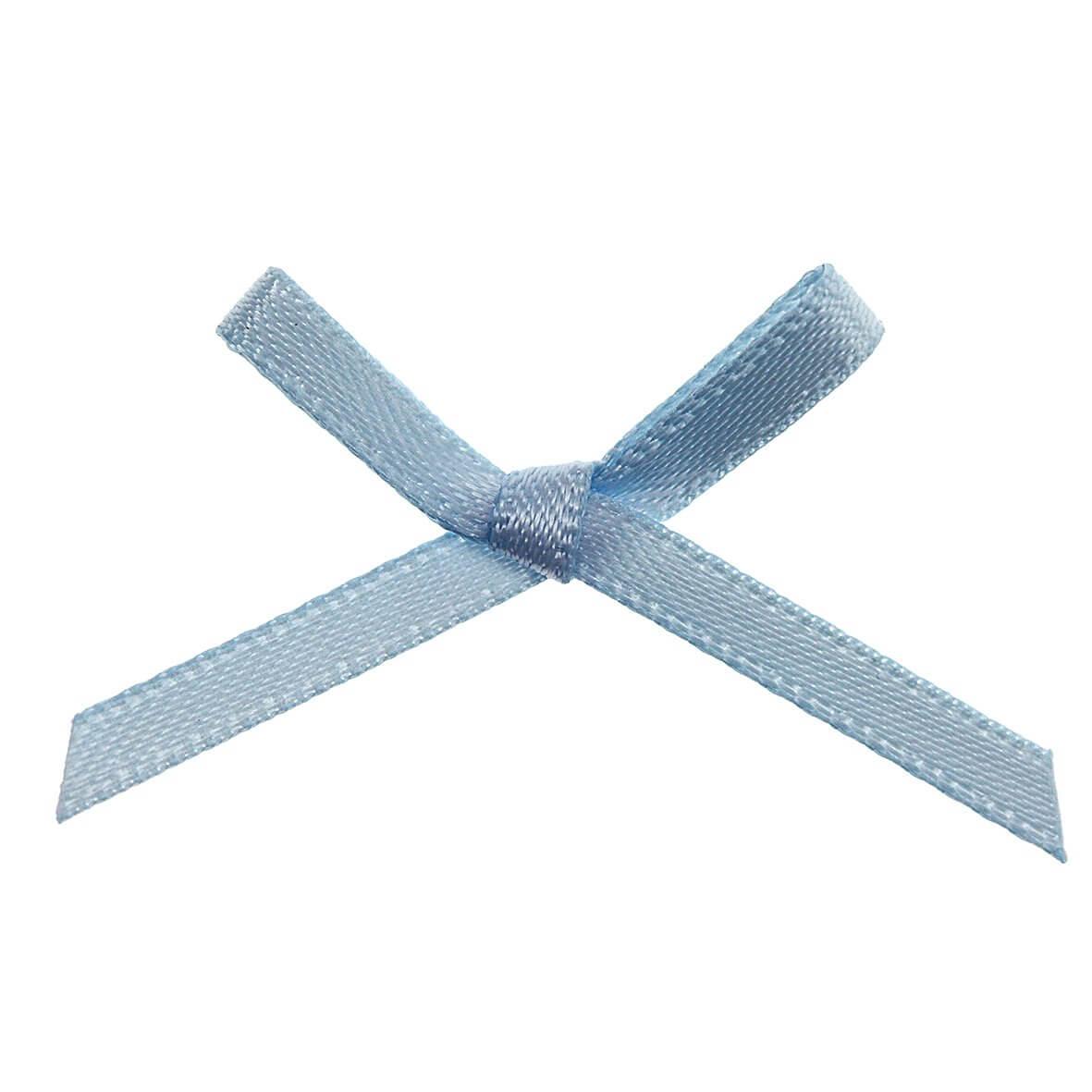 Sky Blue Ribbon Bows 3mm