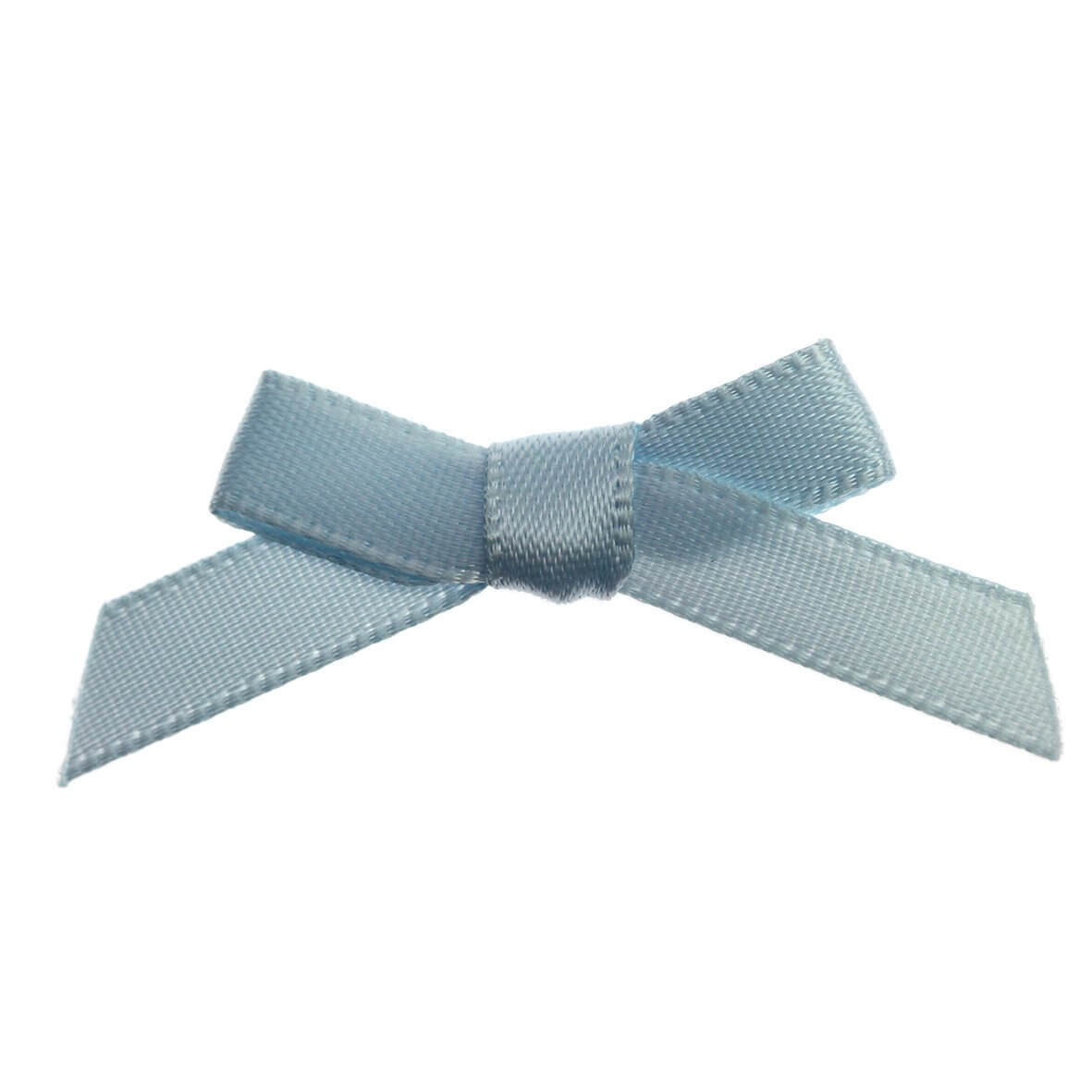 Sky Blue Ribbon Bows 7mm