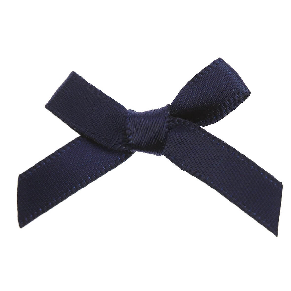 Navy Ribbon Bows 7mm