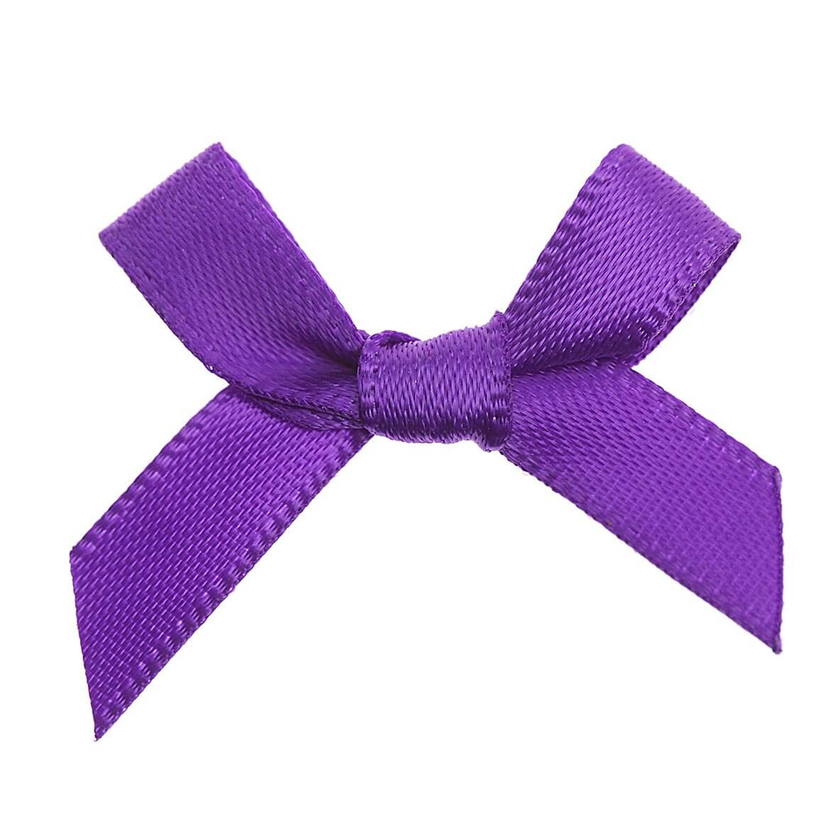 Purple Ribbon Bows 7mm Wow Vow