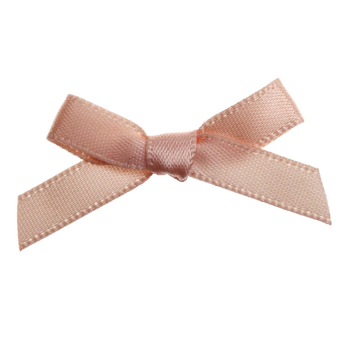 Peach Ribbon Bows 7mm