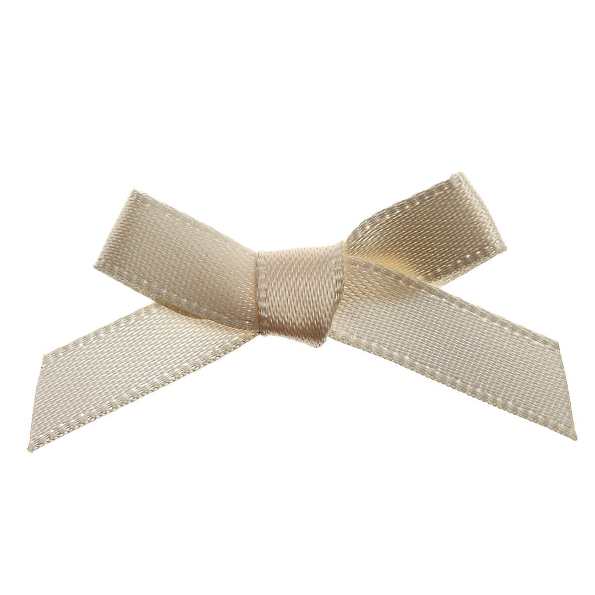 Cream Ribbon Bows 7mm