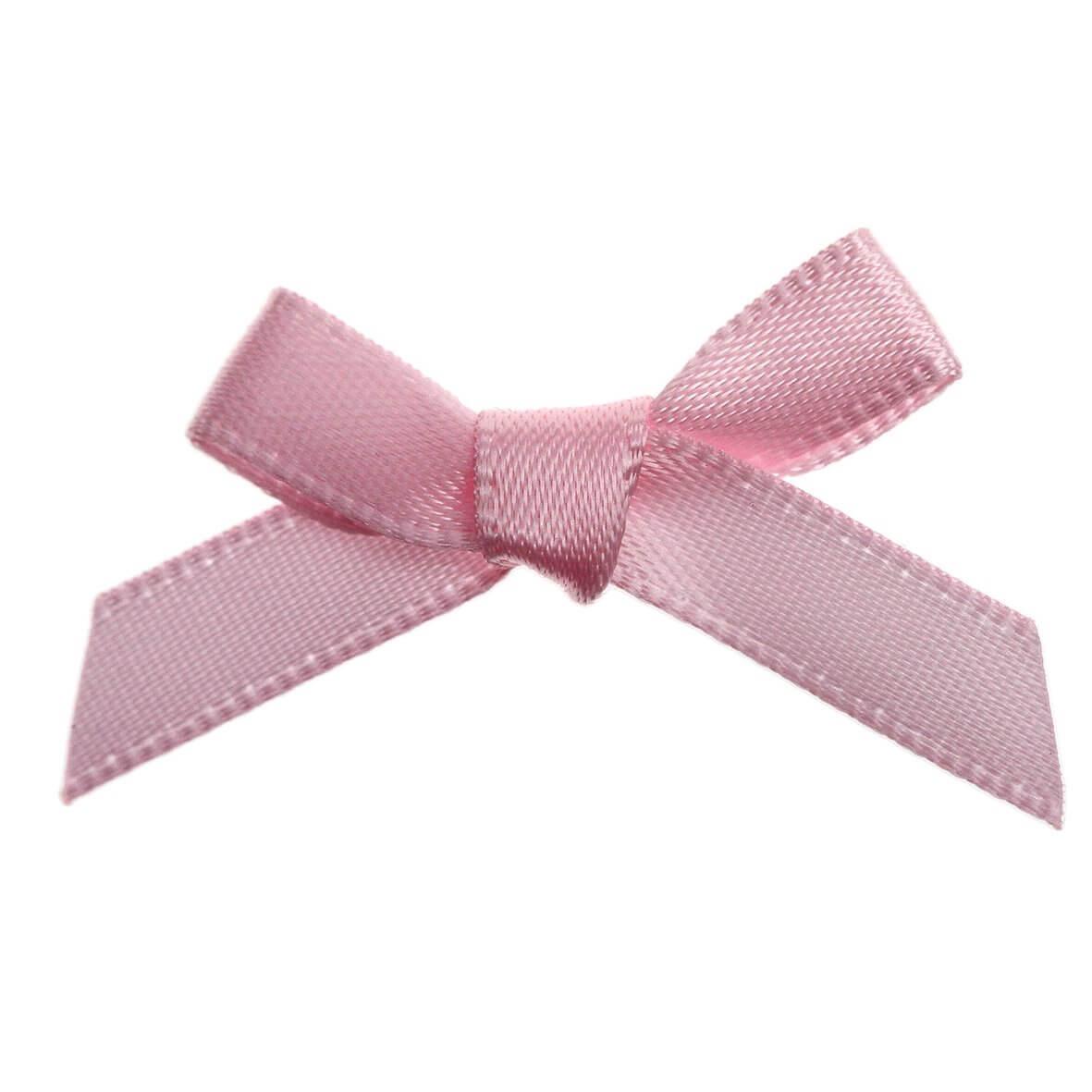 Pale Pink Ribbon Bows 7mm