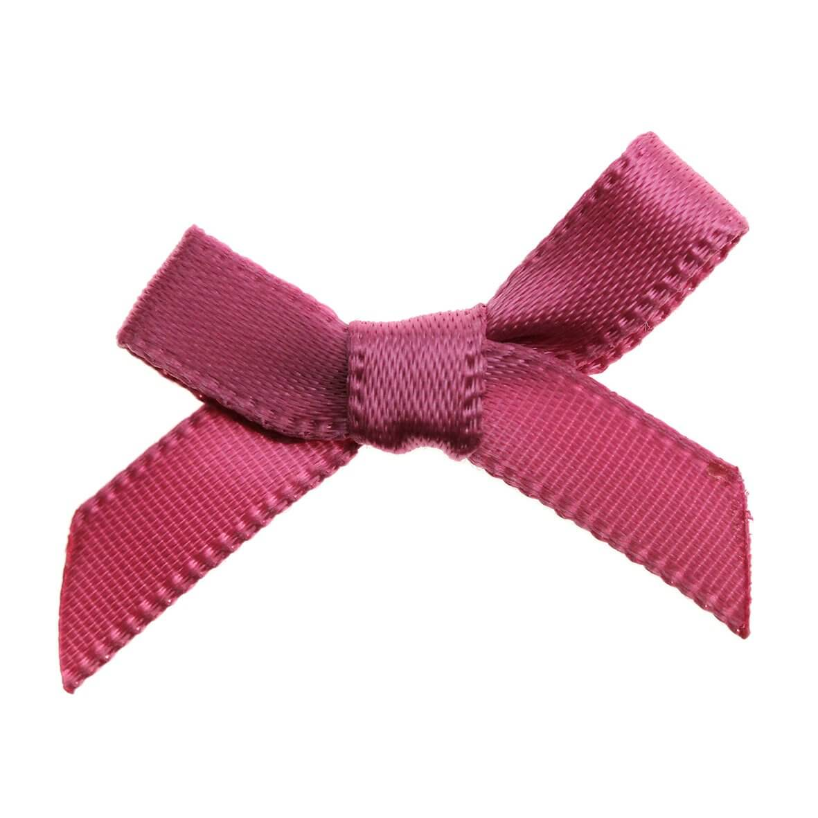 Dusky Pink Ribbon Bows 7mm