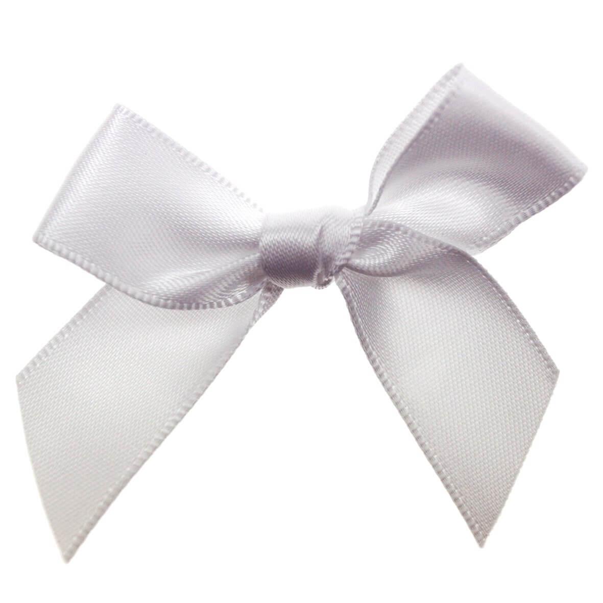 White Ribbon Bows 15mm