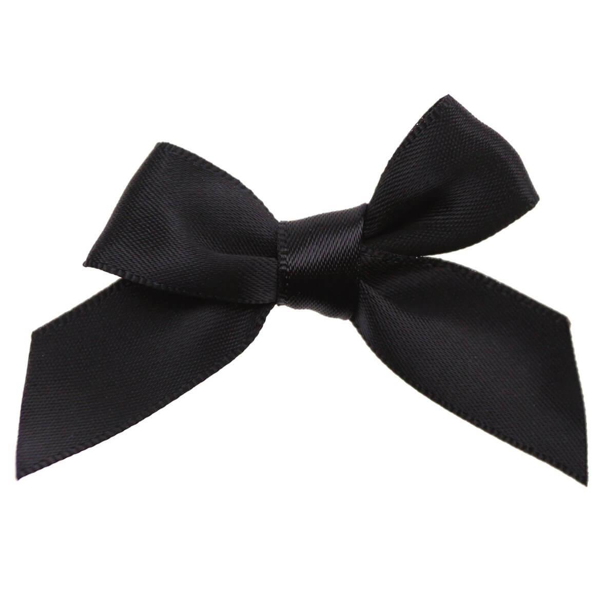 Black Ribbon Bows 15mm
