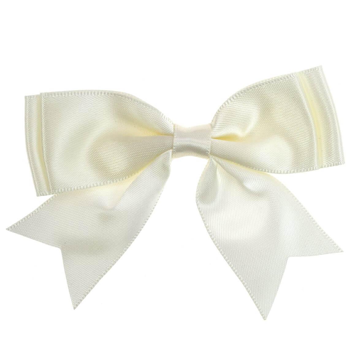 Ivory Ribbon Bows 25mm