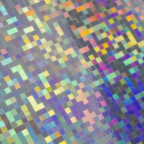 Mirri Checkers Holographic A4 Card - Close up