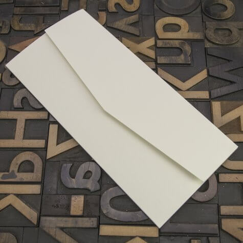 Enfolio Pocketfold (DL) - Silkweave Ivory