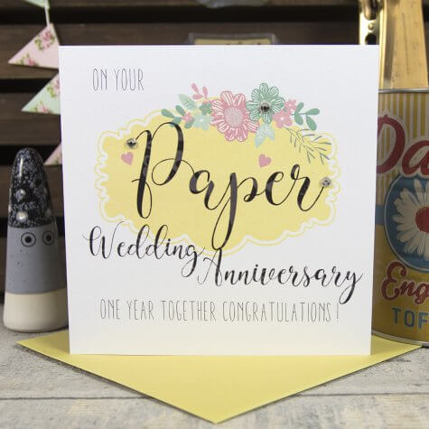 1 Year Paper - Wedding Anniversary Card
