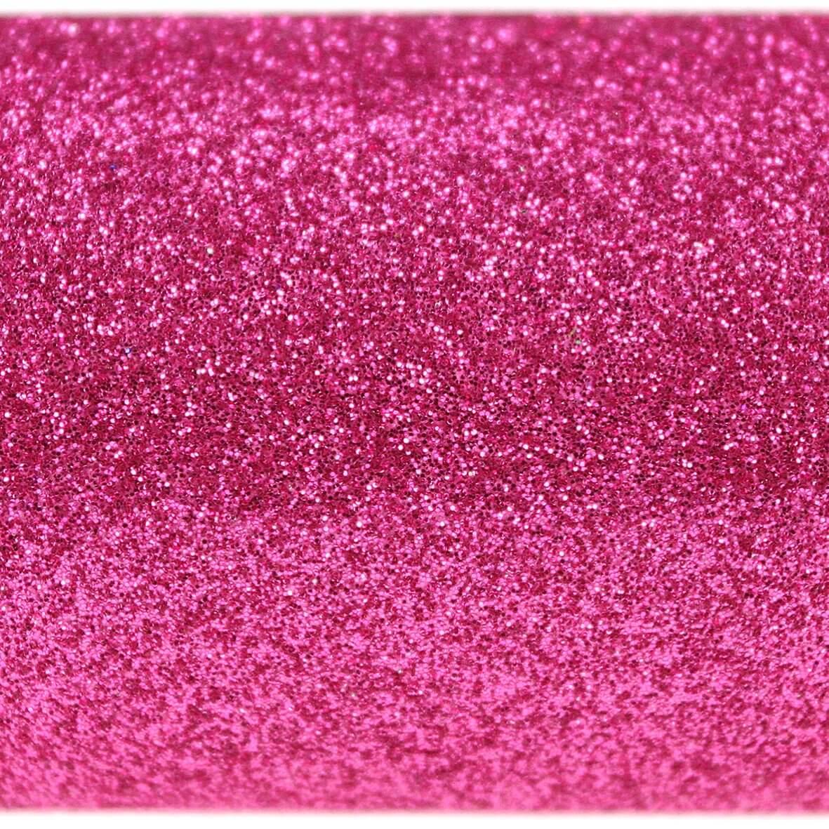 Fuchsia Pink A4 Glitter Card - Close Up