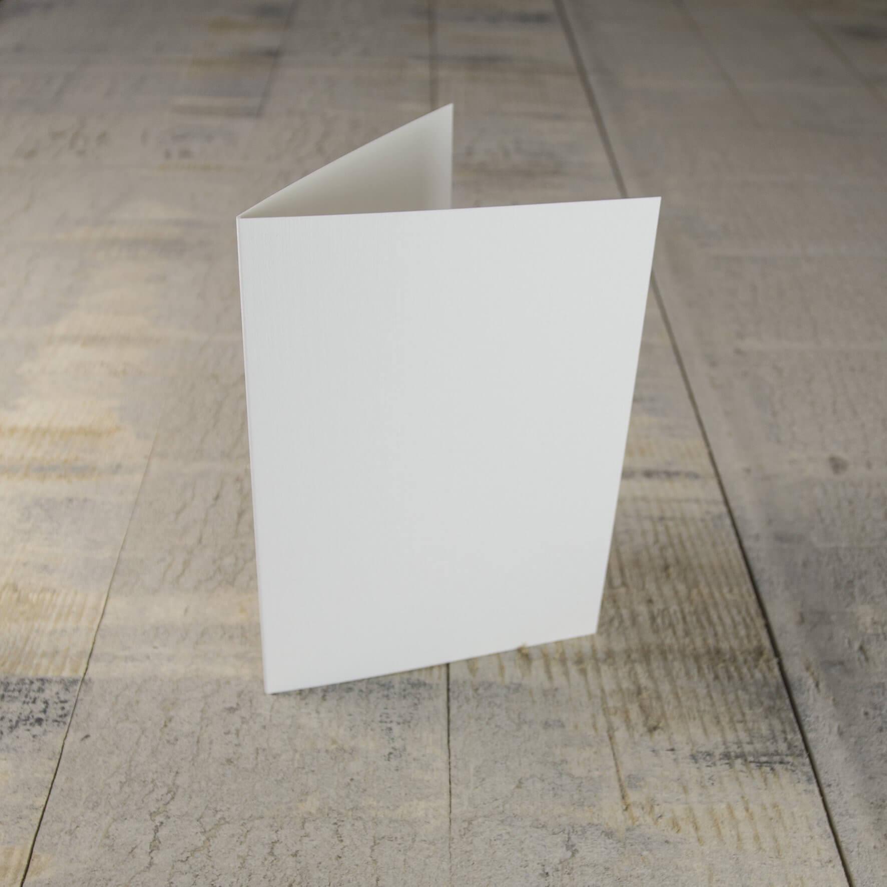 Creased Card C6 - Silkweave White