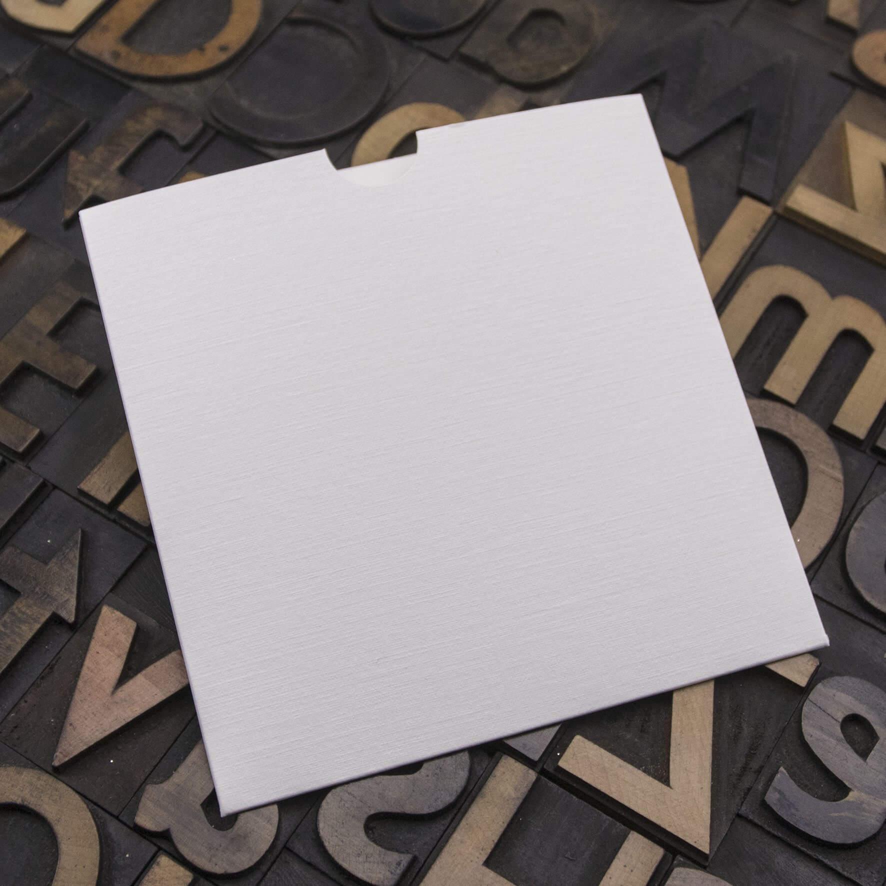 Enfolio Wallet 125mm Sq - Silkweave White