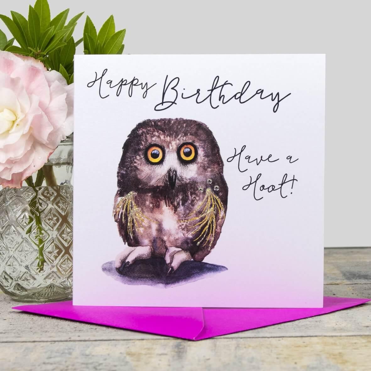 Happy Birthday - have a hoot card