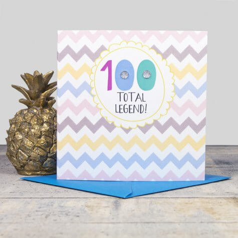 100th Birthday Card - total Legend