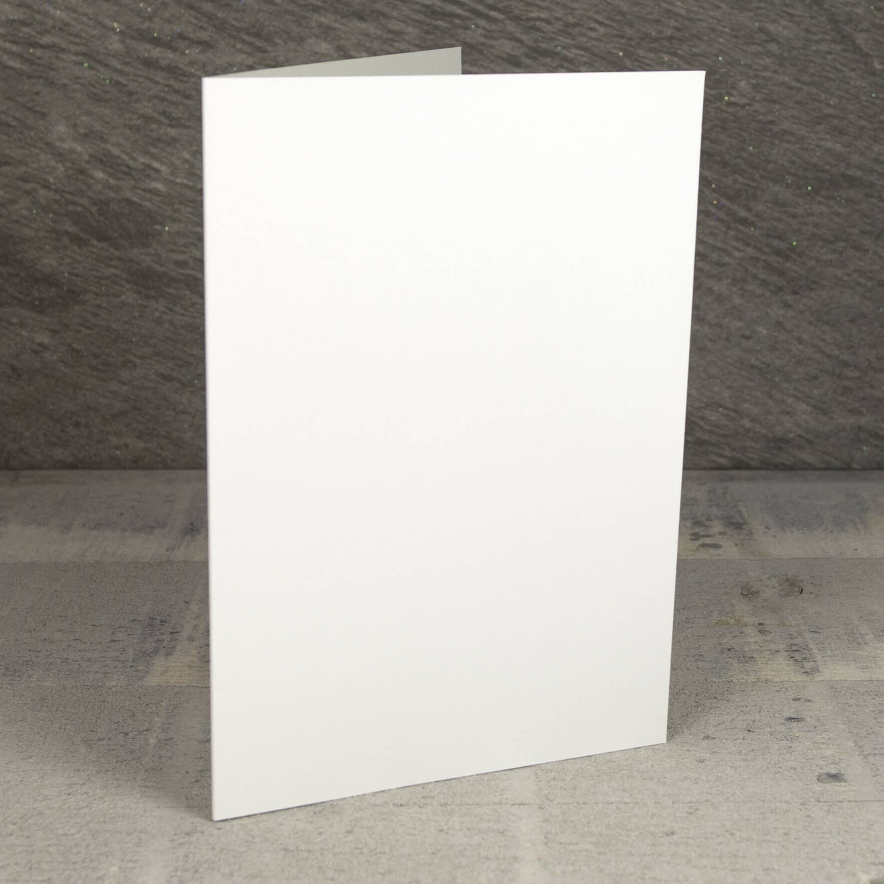 Creased Card A5 - Ivory Sparkle